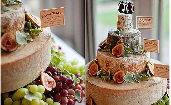 Its A Freaking Tower Of Cheese Designed To Look Like The Wedding Cake At Bride And Groom On Top