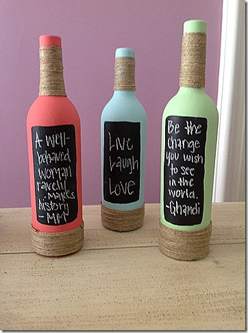 chalk wine bottle