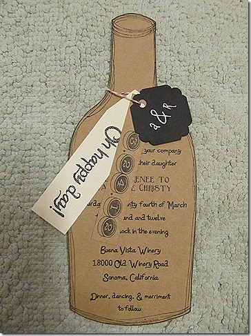 wedding invites etsy wine bottle 10.14.12