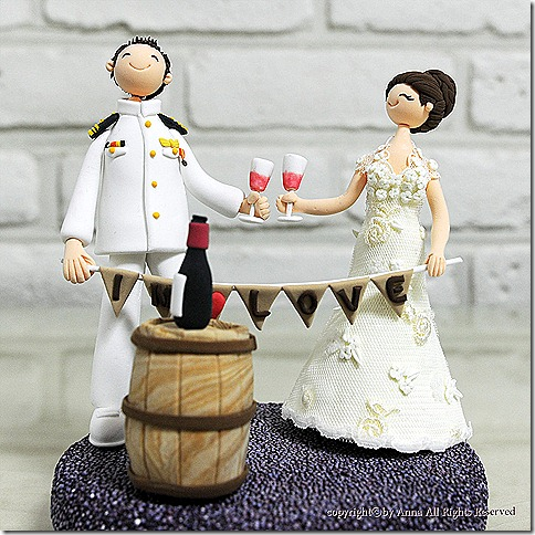 military and wineyard themed topper