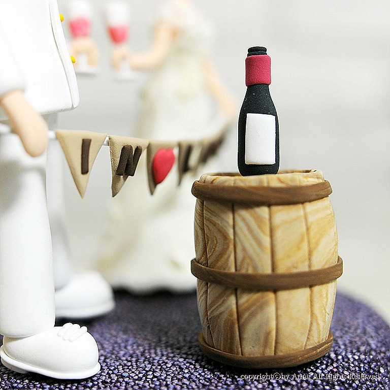 Wine Themed Cake Toppers Wineryweddings