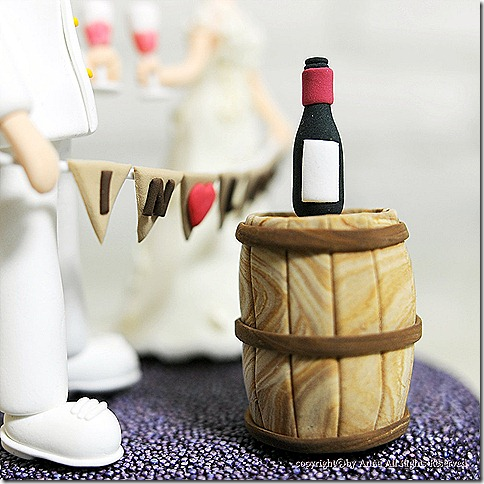 wine and barrel topper