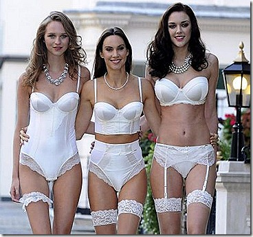 bridal lingerie three women