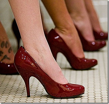 Fun-Cranberry-Colored-Bridesmaid-Heels