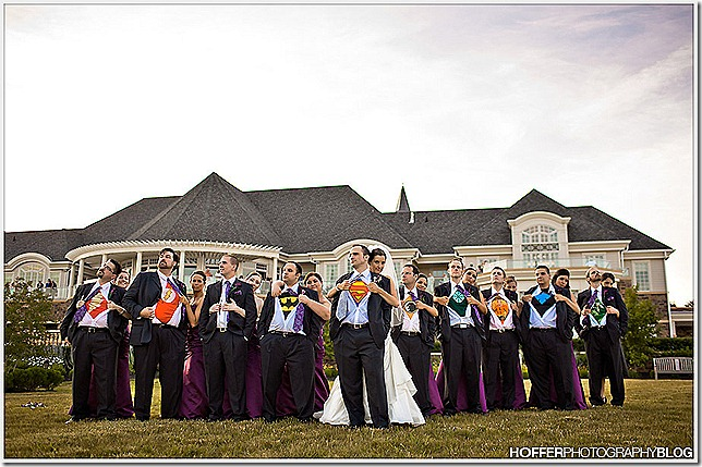 superhero wedding theme
