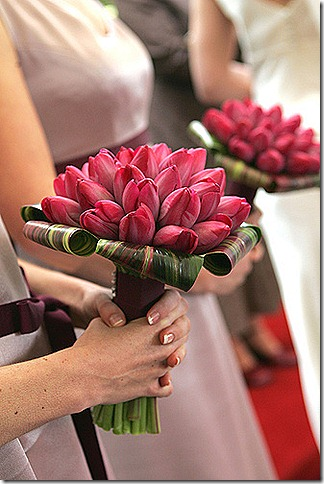tulip bridesmaids