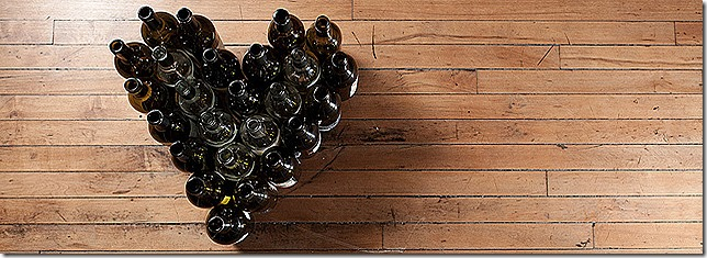 heart of wine bottles
